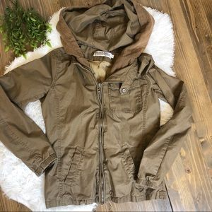 Monoreno Army Utility Hoodie Jacket Small